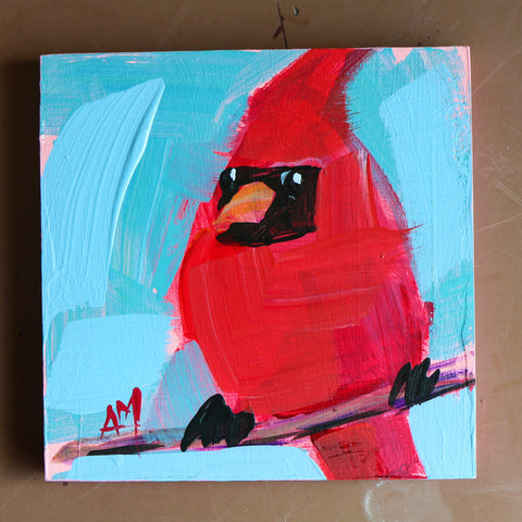 Cardinal No. 253 painting Angela Moulton - Christenberry Collection