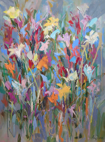 Chaotic Gardener painting Amy Dixon - Christenberry Collection
