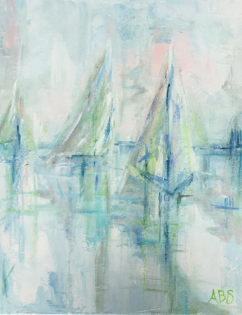 Charleston Race Week painting Ann Schwartz - Christenberry Collection