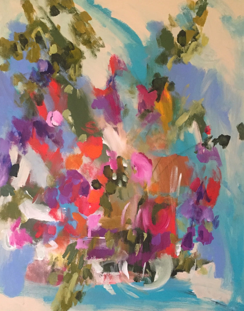 Color Cascade painting Molly Wright - Christenberry Collection