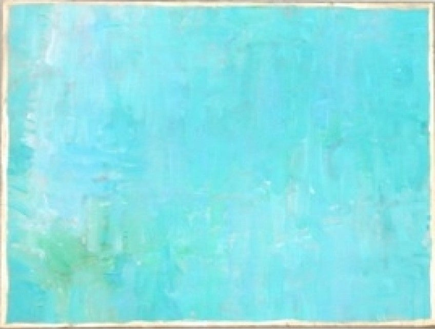 Teal painting Lauren Neville - Christenberry Collection