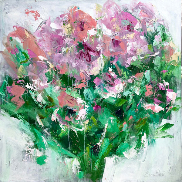 Christenberry Collection | Emma Bell | Southern Artist | Pink Flower Bouquet