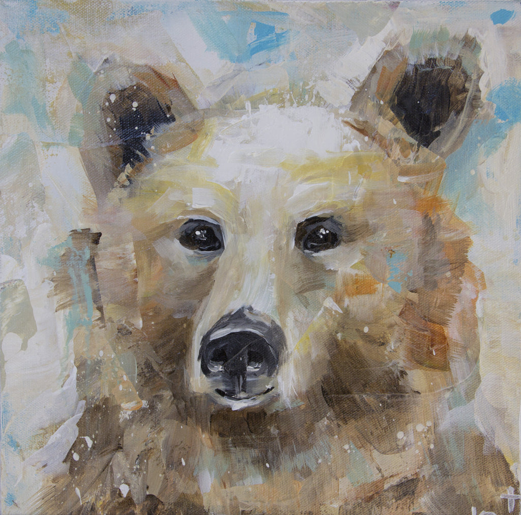 Animal - Fall Bear painting Kym De Los Reyes - Christenberry Collection