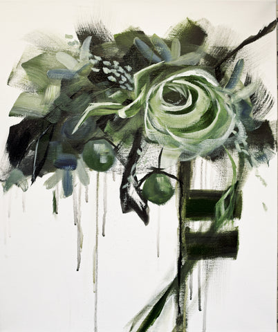 Forte in Emerald I painting Kathy Morawiec - Christenberry Collection
