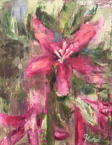Asian Lily painting Cynthia Huston - Christenberry Collection
