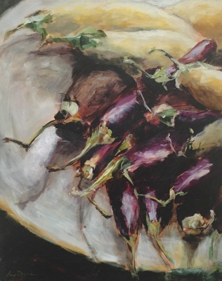 Aubergine Au Provence painting Amy Dixon - Christenberry Collection