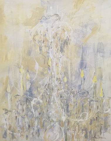 Shades of White painting Amy Dixon - Christenberry Collection