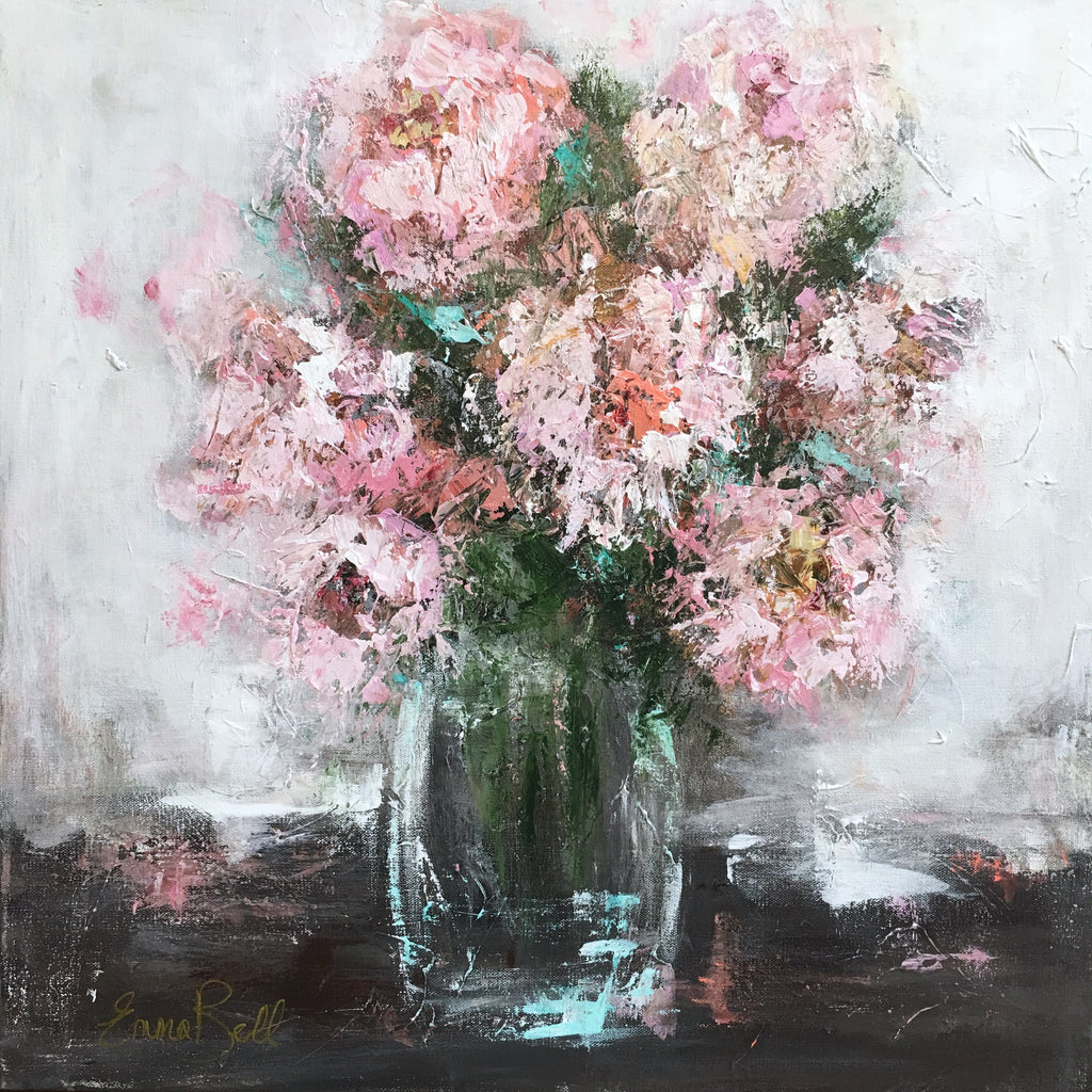 Perfect Peonies painting Emma Bell - Christenberry Collection