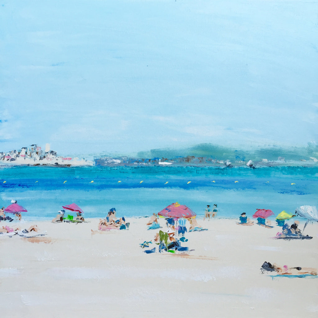 Beach Life - A Tranquil Day painting Emma Bell - Christenberry Collection