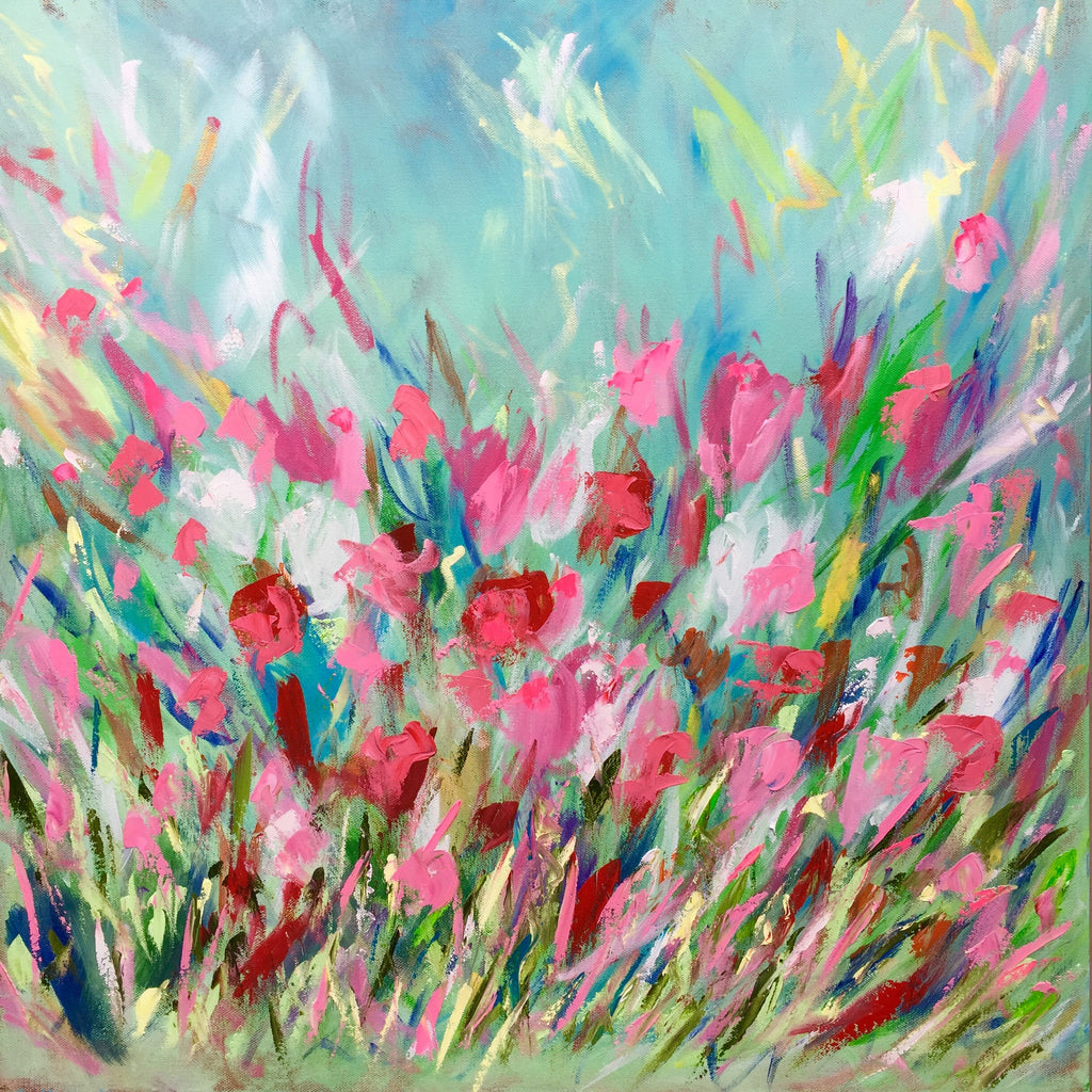 Wild Flower Abstract painting Emma Bell - Christenberry Collection