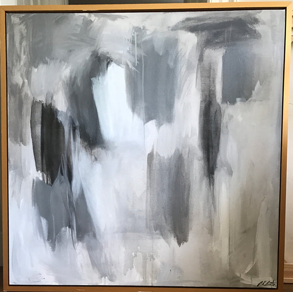 Equanimity: Grey Tones VI painting Sue Sartor - Christenberry Collection