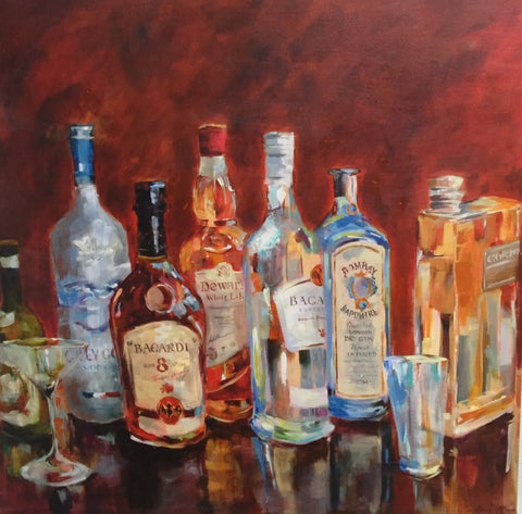 Bacardi painting Amy Dixon - Christenberry Collection