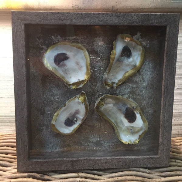 Shadow Box Oyster Shells II painting Amy Christenberry - Christenberry Collection