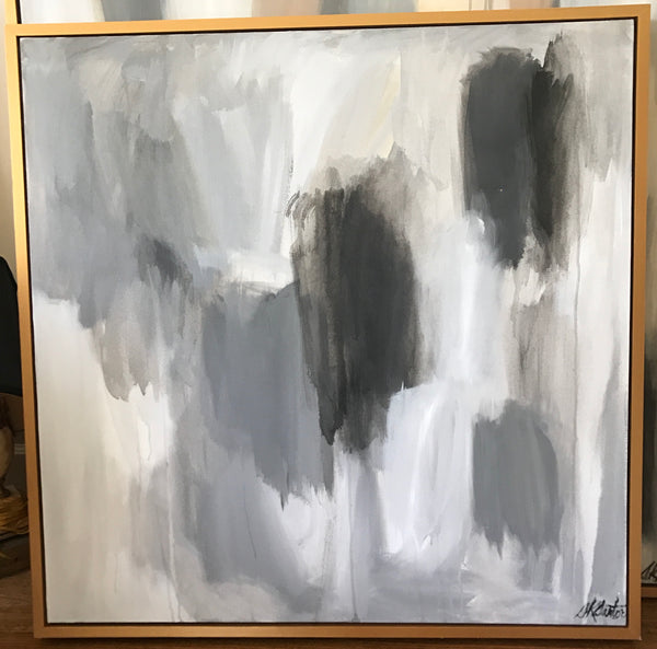 Equanimity: Grey Tones V painting Sue Sartor - Christenberry Collection