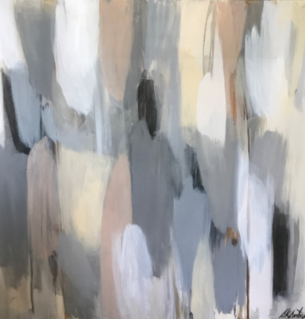 Contemplation: Tonal Juxtaposition painting Sue Sartor - Christenberry Collection