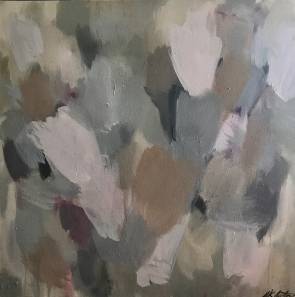 Atmospheric Scape: Blush and Beige painting Sue Sartor - Christenberry Collection