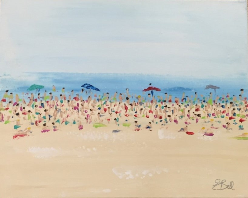 Beach 2 painting Emma Bell - Christenberry Collection