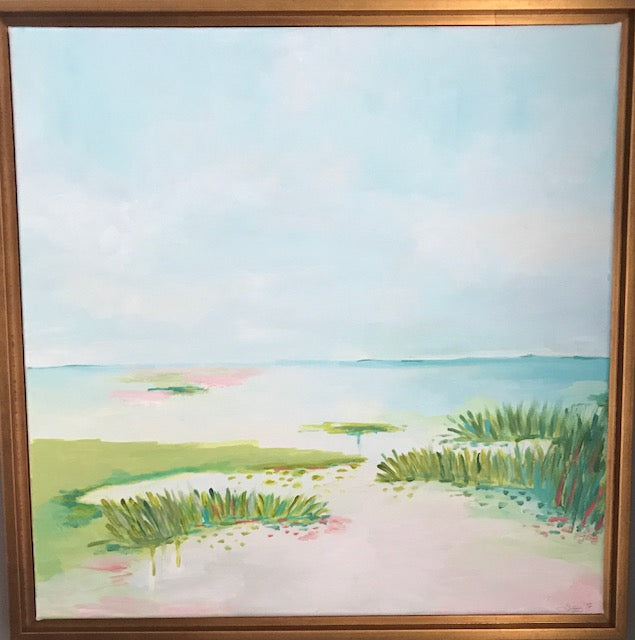 Waters Edge painting Jane Marie Edwards - Christenberry Collection