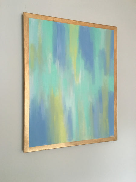Blue and Gold painting Lauren Neville - Christenberry Collection