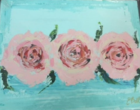 Vintage Roses painting Emma Bell - Christenberry Collection