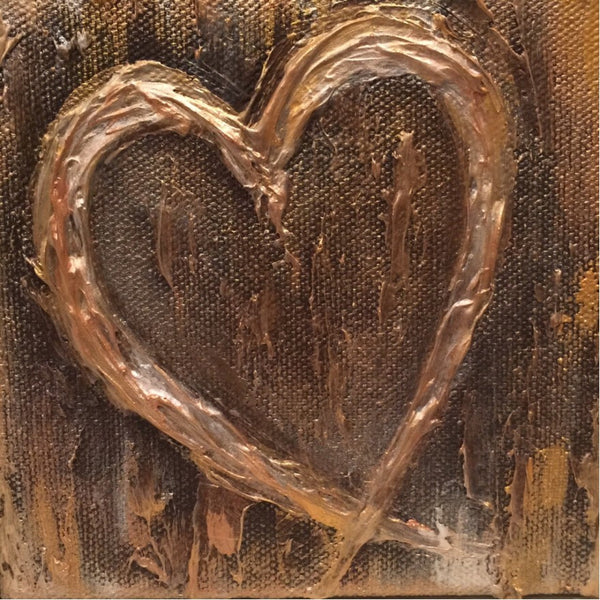 Heart painting Lori Mitchell - Christenberry Collection