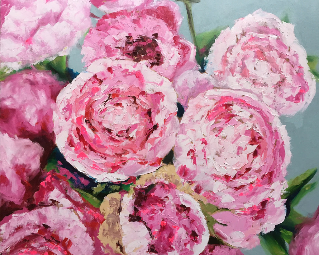 Delightful Peonies painting Emma Bell - Christenberry Collection
