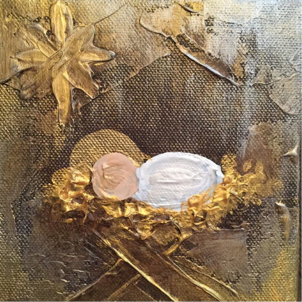 Baby Jesus painting Lori Mitchell - Christenberry Collection