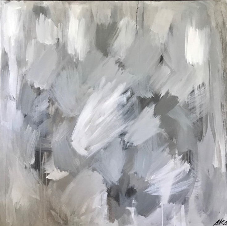 Awash in Grays painting Sue Sartor - Christenberry Collection
