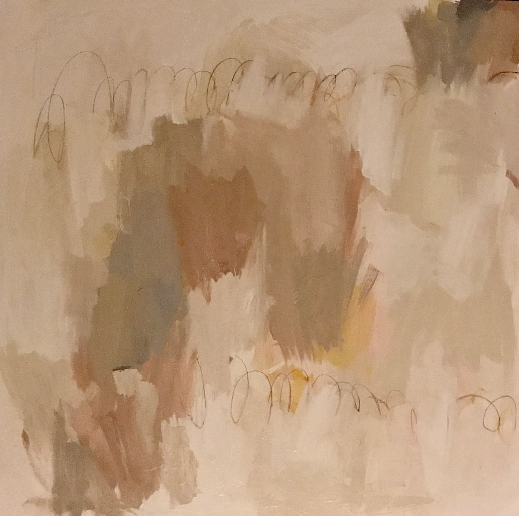 Blush and Putty V painting Sue Sartor - Christenberry Collection