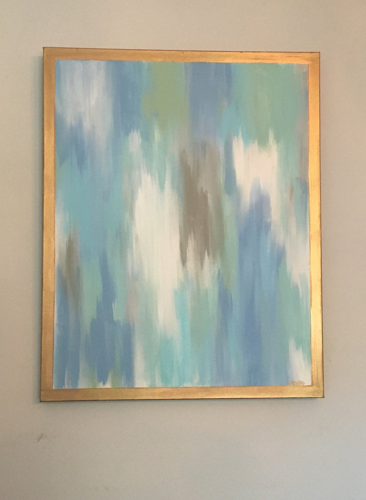 Hazy Shades of Blue painting Lauren Neville - Christenberry Collection