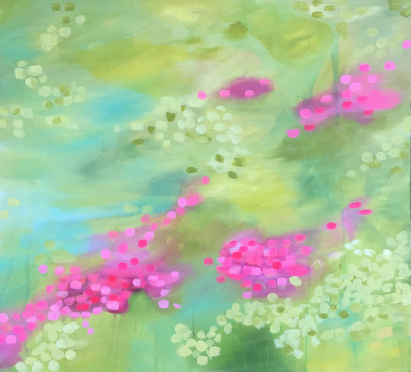 Garden Confetti 1 & 2 painting Kristin Cooney - Christenberry Collection