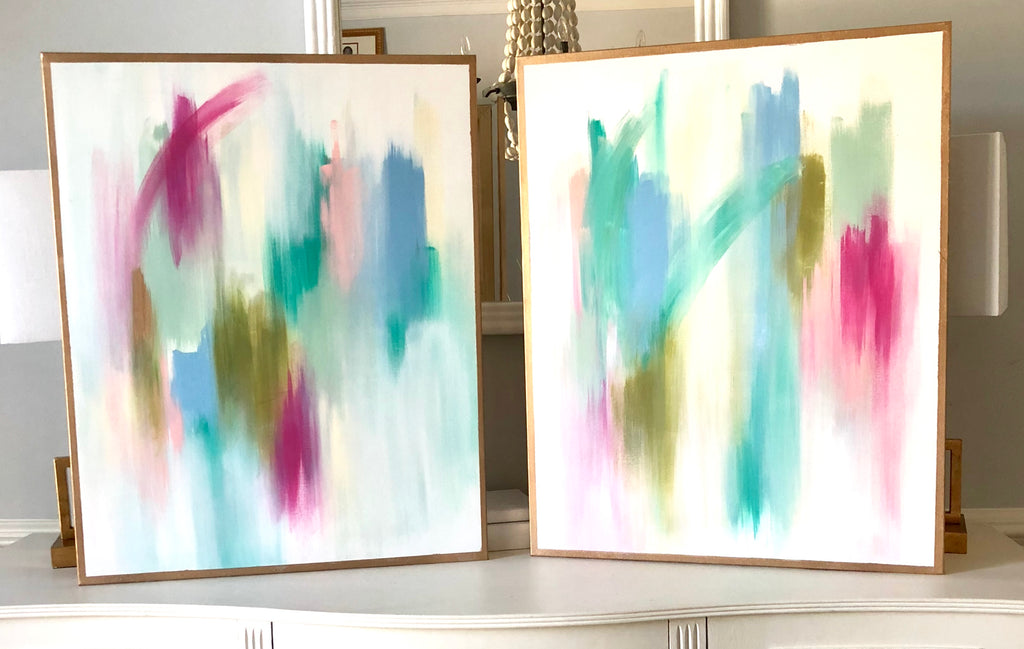 Fuchsia and Teal I and II | Christenberry Collection