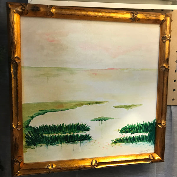 Marsh Scene painting Jane Marie Edwards - Christenberry Collection