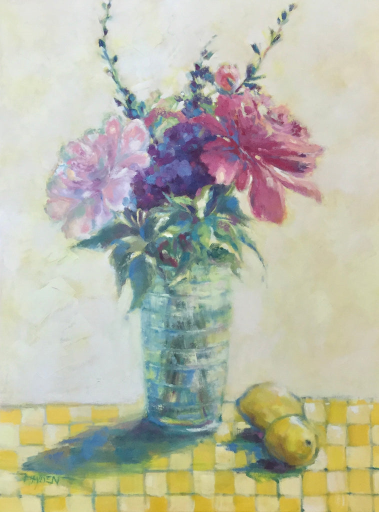 Mom's Geraniums painting Barbara Hayden - Christenberry Collection