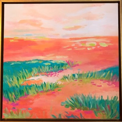 Peach Marsh painting Jane Marie Edwards - Christenberry Collection
