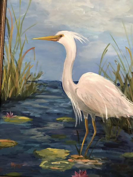 Herons in the Marsh | Christenberry Collection