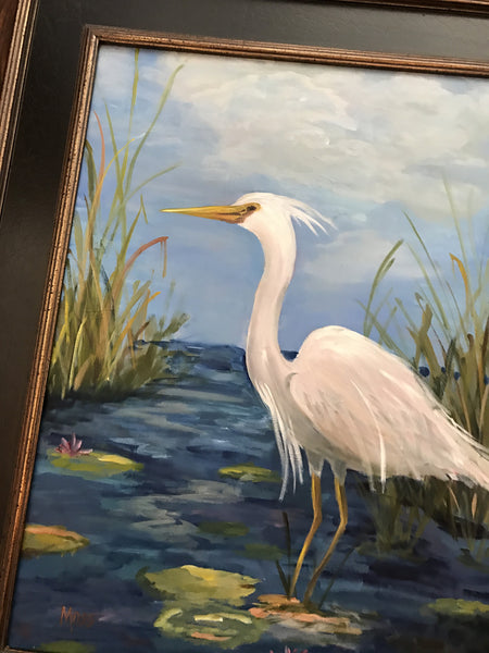 Herons in the Marsh