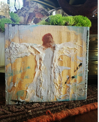 Angel on Wood painting Amy Christenberry - Christenberry Collection