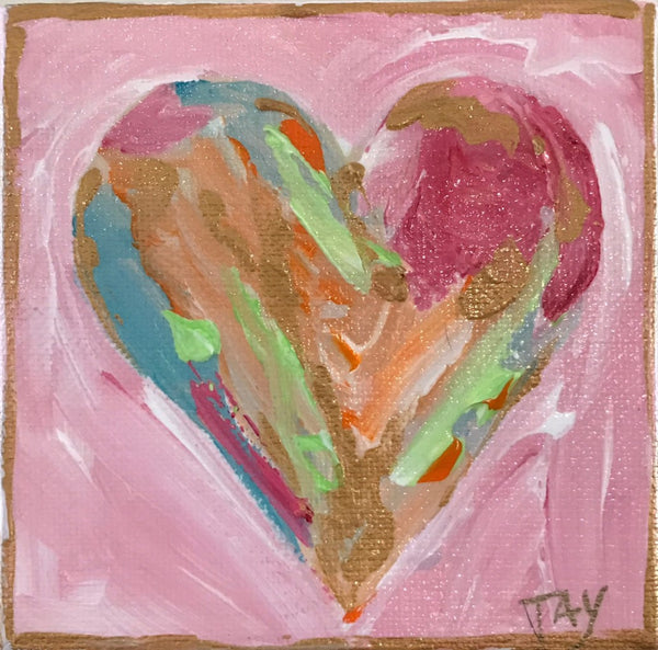 Hearts of Gold 3 painting Tay Morgan - Christenberry Collection