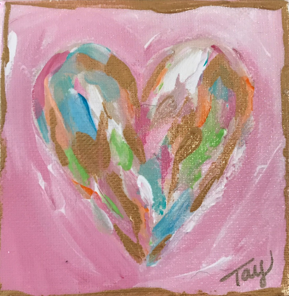 Hearts of Gold 4 painting Tay Morgan - Christenberry Collection