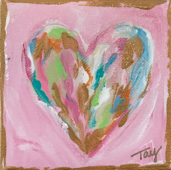 Hearts of Gold 5 painting Tay Morgan - Christenberry Collection