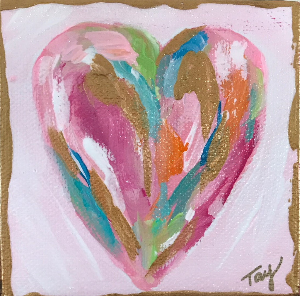 Hearts of Gold 9 painting Tay Morgan - Christenberry Collection