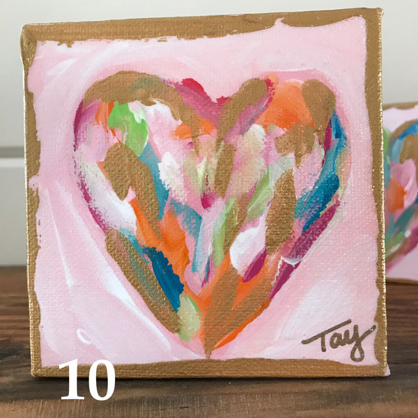 Hearts of Gold 10 painting Tay Morgan - Christenberry Collection