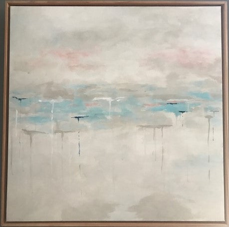 Blue Horizon painting Jane Marie Edwards - Christenberry Collection