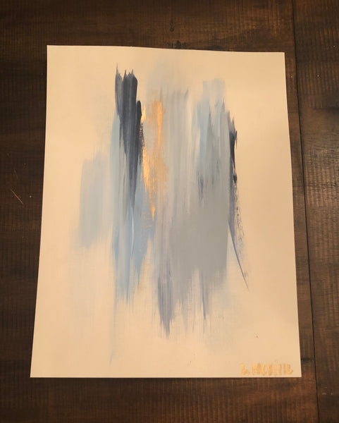 Blues I painting Lauren Neville - Christenberry Collection