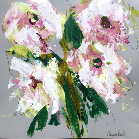 Lilies II painting Emma Bell - Christenberry Collection