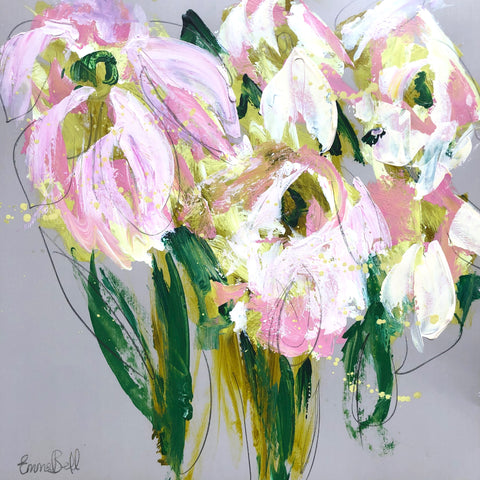 Lilies I painting Emma Bell - Christenberry Collection