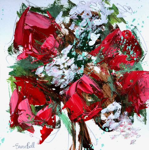Winter Roses I painting Emma Bell - Christenberry Collection