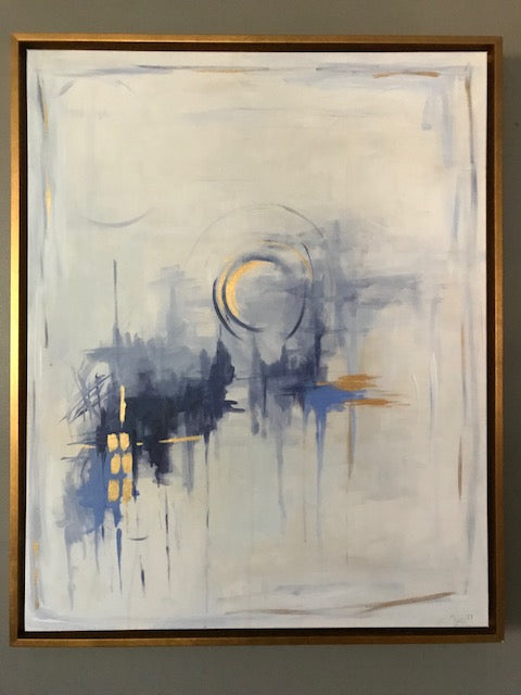 Indigo Series III painting Jane Marie Edwards - Christenberry Collection