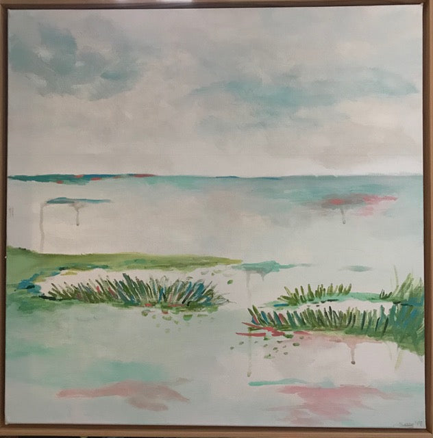 Marsh Scene 2 painting Jane Marie Edwards - Christenberry Collection